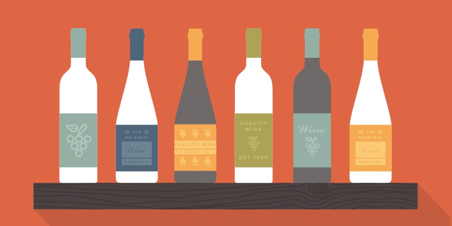 Wine Bottle & Wine Box Label Design & Application Ideas